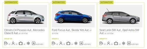 automatic car rental goldcar