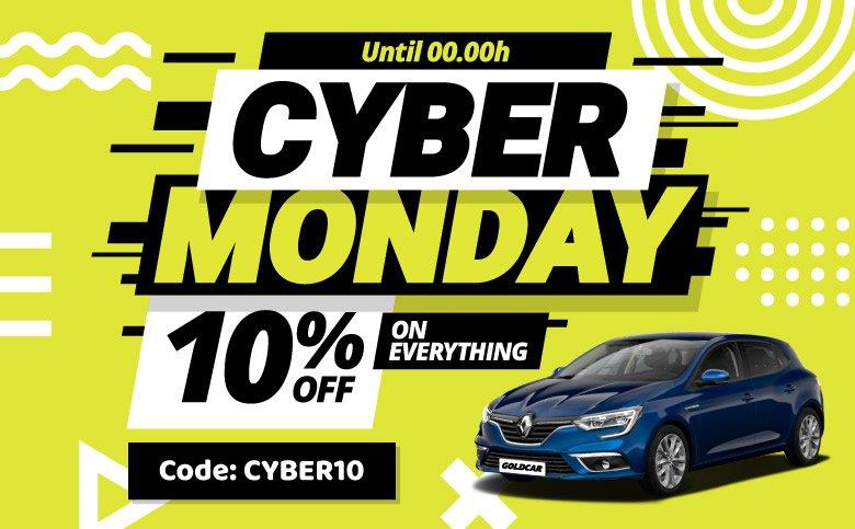 Ofertas Cyber Monday online de alquiler de coches