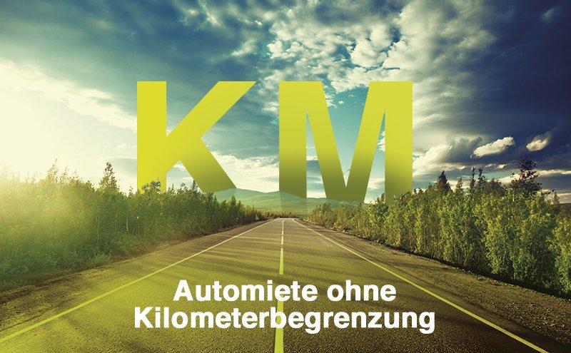 Mietwagen ohne Kilometerbegrenzung